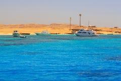 Lagoon of the Red Sea at Mahmya island. Egypt Stock Images