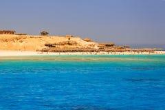 Lagoon of the Red Sea at Mahmya island. Egypt Stock Photos