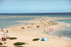 Lagoon in Risco El Paso at Playas de Sotavento, Fuerteventura. The famous lagoon in Risco El Paso at Playas de Sotavento, Fuerteventura royalty free stock photography