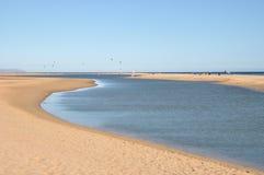 Lagoon, sandbank Stock Images