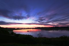 Lagoon sunset royalty free stock images