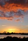 Lagoon sunset Stock Photography