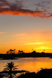 Lagoon sunset Royalty Free Stock Image