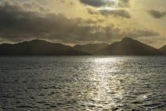 Lagoon in a sunset stock photo