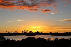 Lagoon sunset Stock Images
