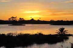 Lagoon sunset Stock Photos
