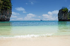 Lagoon with tropical beach Royalty Free Stock Images