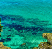 Lagoon with a turquoise water Royalty Free Stock Images