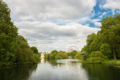 Lagoon in an urban park in London. Stock Images
