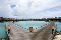 Lagoon Villa Stock Photography