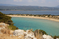 Lagoon Voidokilia, Greece Royalty Free Stock Images