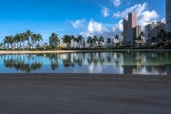 Lagoon in Waikiki, Oahu, Hawaii Stock Images