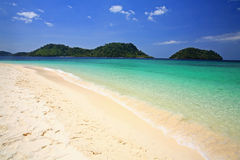 Lagoon and white sandy beach at Koh Lipe Royalty Free Stock Photography