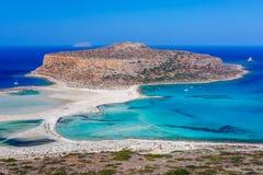 Lagoone Balos на Крите Греция Стоковое Фото