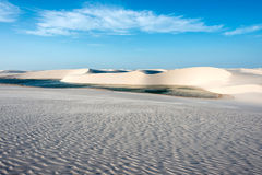 Lagoons in the desert, Brazil Royalty Free Stock Image