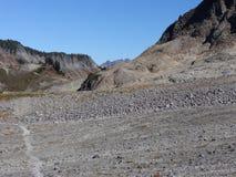 Lagopède alpin Ridge Trail dans la chute Images stock