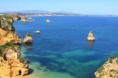 Lagos, Algarve coast in Portugal Stock Images