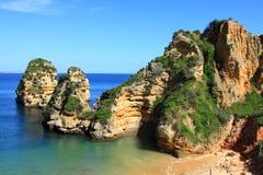 Lagos, Algarve coast in Portugal Stock Images