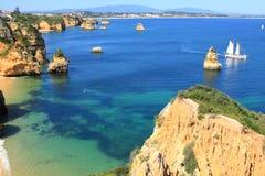 Lagos Algarve kust i Portugal Fotografering för Bildbyråer