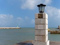 LAGOS, ALGARVE/PORTUGAL - MARCH 5 : Lamp outside Fort Ponta da B Royalty Free Stock Image