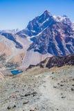 Lagos Alouddin, montañas de Fann, turismo, Tayikistán Fotos de archivo