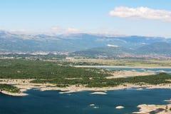 Lagos artificiales en Niksic, Montenegro Imagen de archivo libre de regalías