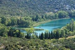 Lagos Bacina en Croacia Foto de archivo libre de regalías