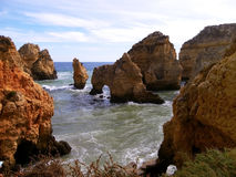 Lagos Caves in Portugal Stock Photos