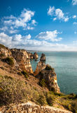 Lagos cliffs in Portugal Royalty Free Stock Photos