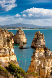 Lagos cliffs in Portugal Royalty Free Stock Photography