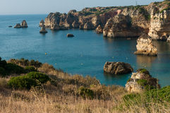 Lagos coastline. Lagos is on the Algarve Coast of southern Portugal Stock Images