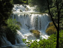 Lagos e cachoeira Plitvice na Croácia Foto de Stock Royalty Free