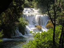 Lagos e cachoeira Plitvice na Croácia Fotografia de Stock Royalty Free