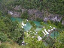 Lagos e cachoeira Plitvice na Croácia Fotos de Stock Royalty Free