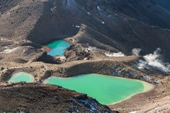 Lagos emerald, parque nacional de Tongariro, Nova Zelândia Imagens de Stock Royalty Free