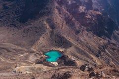 Lagos esmeralda, parque nacional de Tongariro Imágenes de archivo libres de regalías