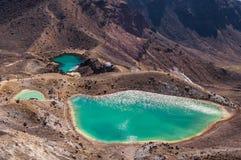 Lagos esmeralda, parque nacional de Tongariro Imagen de archivo