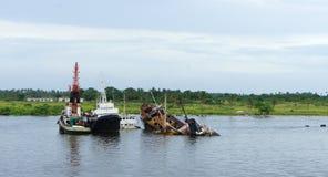 Lagos-Fluss Stockfoto