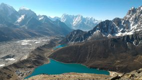 Lagos Gokyo, Nepal foto de stock royalty free