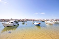 Lagos harbor in Portugal. The harbor from Lagos in Portugal Royalty Free Stock Images
