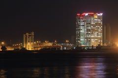 Lagos-Insel nach Sonnenuntergang CMS in Lagos Nigeria Lizenzfreies Stockbild