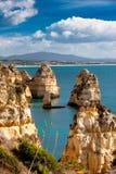 Lagos-Klippen in Portugal Lizenzfreie Stockfotografie