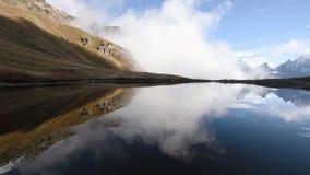 Lagos Koruldi, Svaneti superior, Mestia perto da passagem de Ushba Geórgia, Europa cáucaso Definição alta video de HD filme