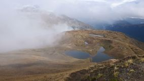 Lagos Koruldi, Svaneti superior, Mestia perto da passagem de Ushba Geórgia, Europa Vídeo de Hd filme