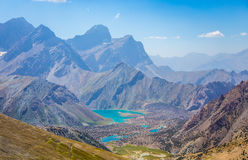 Lagos Kulikalon, montañas de Fann, turismo, Tayikistán Imagen de archivo