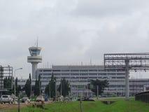 Lagos Nigeria, el 30 de agosto de 2016: Aeropuerto internacional Lagos de Murtala Mohammed Imágenes de archivo libres de regalías