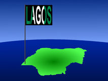 Lagos on Nigeria map Stock Photography