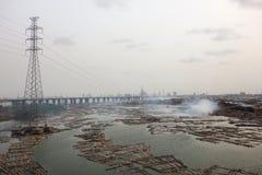 Lagos Nigeria. Slums in Africa Royalty Free Stock Photos