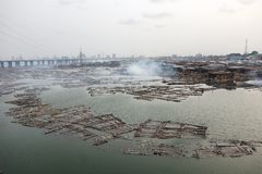 Lagos Nigeria. Slums in Africa Royalty Free Stock Photography