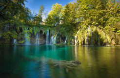 Lagos parque nacional Plitvice, Croatia Local da herança do Unesco Fotos de Stock Royalty Free